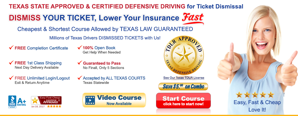 Texas Defensive Driving Cheap Easy Fast